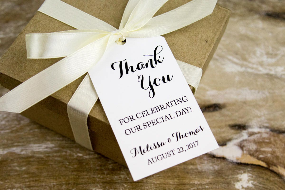 Thank you for celebrating our special day - Wedding Favor Tags ...
