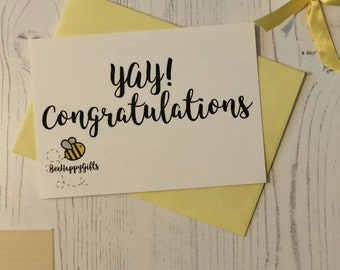 BeeHappy Postcard - YAY! Congratulations