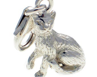 Welded Bliss Sterling 925 Silver Clip Charm, Attentive Cat WBC1385