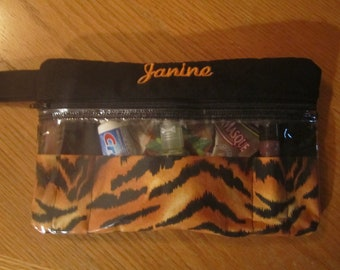 Custom travel, make up, first aid case.  Free Personalization. Perfect gift for birthdays, brides & more.
