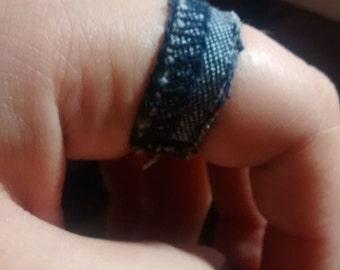 Denim Ring - Womens Ring - Mens/Womens Ring -