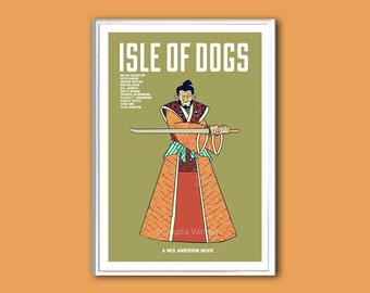 Isle of Dogs movie poster in various sizes