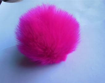 3pcs 8cm Faux Rabbit Fur Pom Pom Knit Hat Pompoms with Elastic Ring