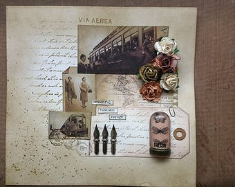 Mixed Media Collage Beautiful Timeless Voyage