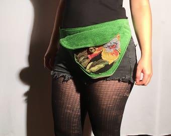 Upcycled Fanny Pack | Handmade Hip Belt Pouch | Boho Hippie Belt Bag | Travel Pouch | Festival Bum Bag | Festival Fanny Pack | Pocket Belt