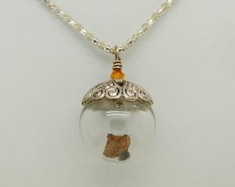 Acorn Lampwork bateau bulle pendentif en verre à la main Art