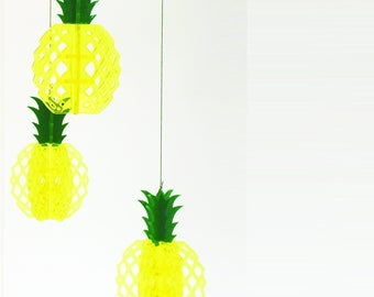 Pineapple mobile for home decoration, Tropical art decor, Kitchen decor, Tropical fruit decor, Pineapple home decor, Kitchen decor ideas