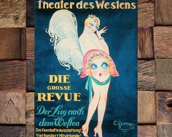 Gesmar Revue Vintage Art, Vintage Entertainment Ad, Fashion Art, Gesmar Art,Vintage Art,Vintage Ad, Giclee Art Print, Fine Art Reproduction