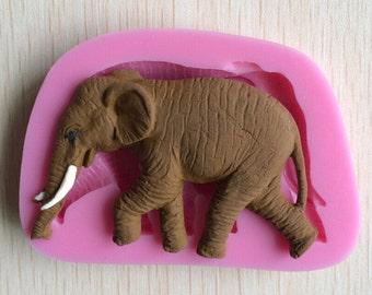 elephant mold - fondant mold - chocolate mold - nature mold - animal mold - candle mold