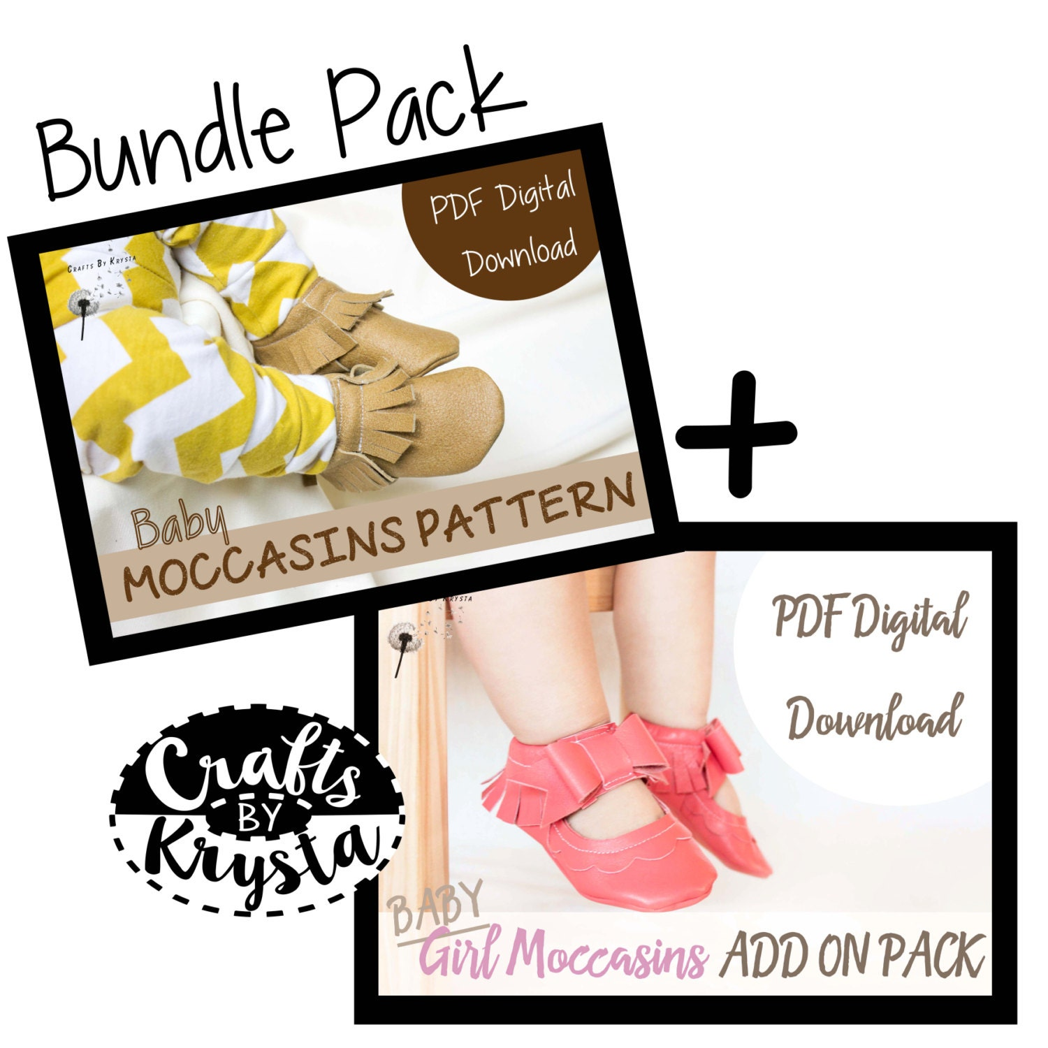 SPECIAL OFFER! Bundle Pack- Leather Moccasin Sewing Pattern - Baby ...