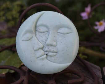 Moon soap - robin's egg blue - Mother's Day Baby Shower - robin's egg shea butter soap
