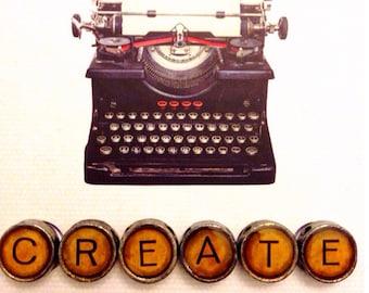 Vintage typewriter keys CREATE journal