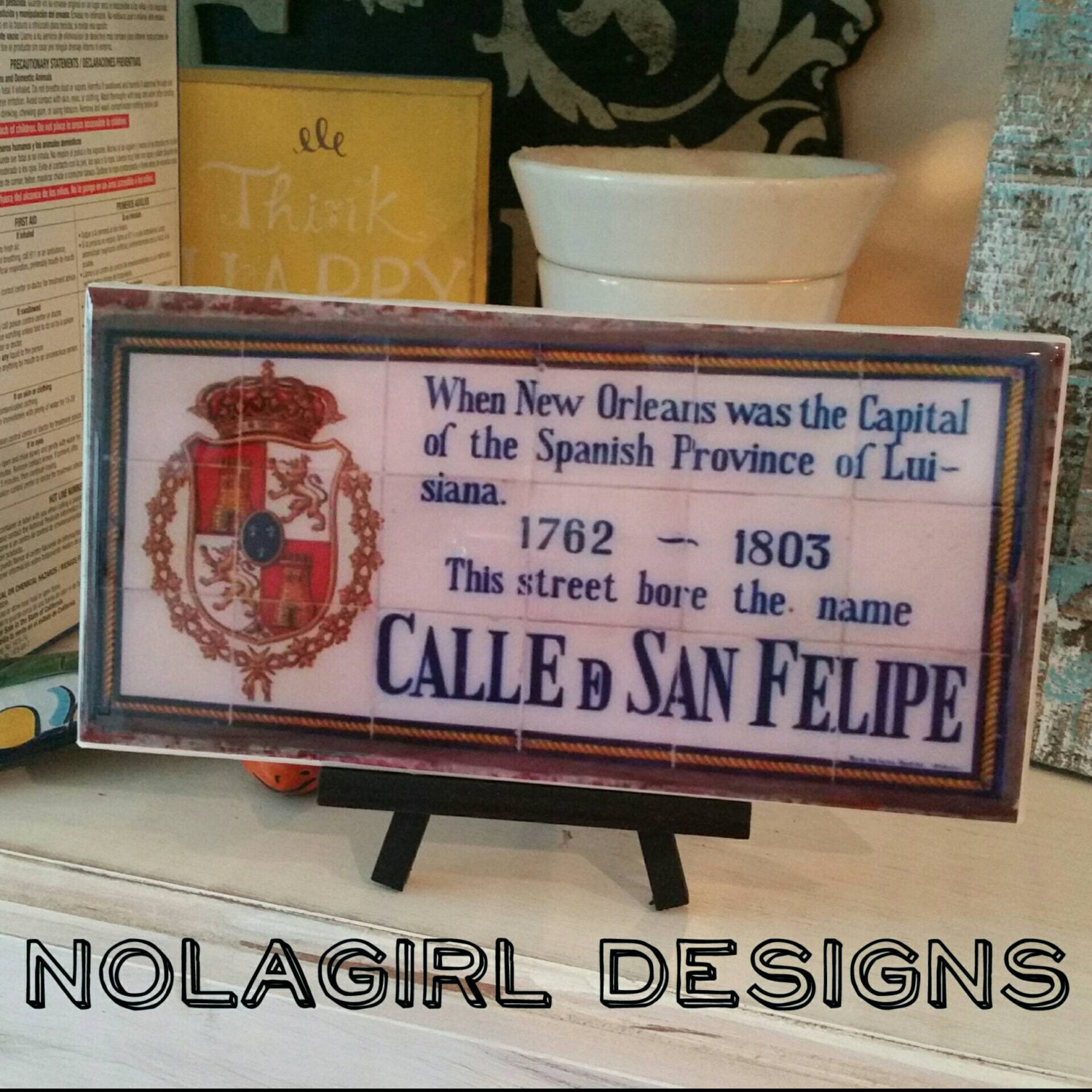 New Orleans, Spanish Tile Replica, home decor, New Orleans Wedding ...