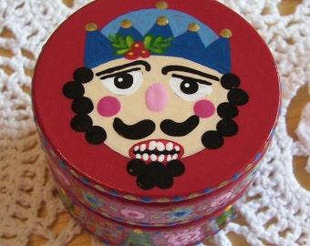 Hand Painted Love Boxes Nutcracker Wood Trinket Box