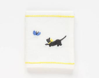 Cat and Butterfly - Embroidery Needle Book Kit