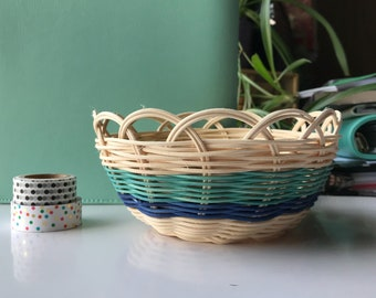 "Hand woven basket titled ""Cool Creek"" Authentic Native America Art double wall basket handmade basket"