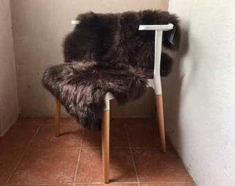 Sheepskin Sustainable Chocolate Brown Rug or Throw with a Dorset story