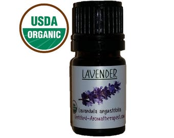 Certified Organic Lavender Essential Oil *Buy 3 Get 4th 1 FREE* pure GCMS Included 5ml 10ml 15ml 3 Drop Sample