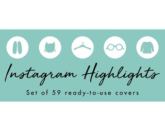 Instagram Story Highlight Icons - 59 Teal Hand Drawn Covers | Fashion, Beauty, Lifestyle, Decor, Craft, Handmade, Bloggers, Influencers