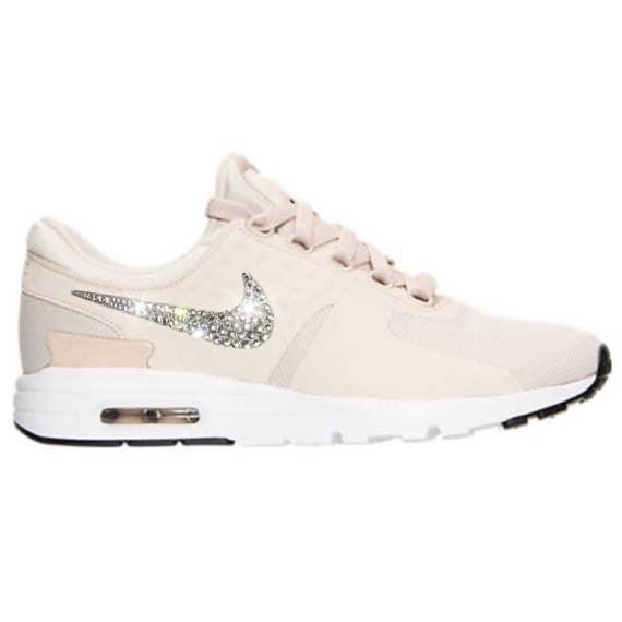 Nude Bling Nike Air Max Zero Women's Shoes with Swarovski