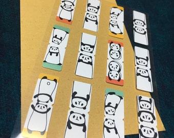 Index sticker from japan -Panda kawaii