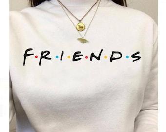 Friends Long Sleeve Crewneck Sweater, Friends TV Show Tshirt, Friends sweater, Unisex