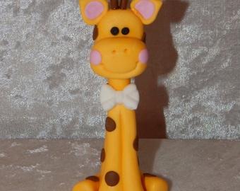 Giraffe Fondant Cake Topper for jungle or circus party