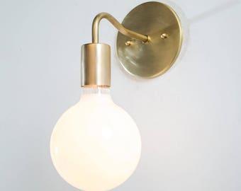 Bathroom Wall Lights Brass Mid Century Sconce Brass Sconce - Mid century modern bathroom sconce