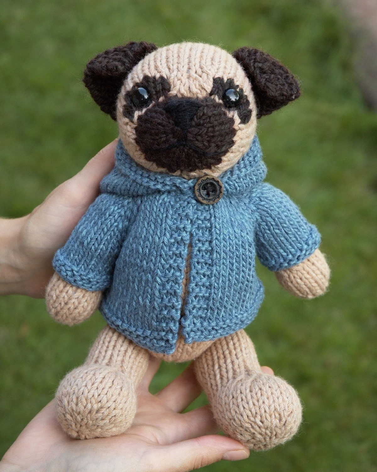 Modern Knitted Pug Pattern Festooning - Sewing Pattern for Wedding ...