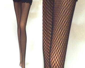 Dolls stockings for Vintage Barbie, muse barbie, silkstone barbie    Black fishnet   BA001