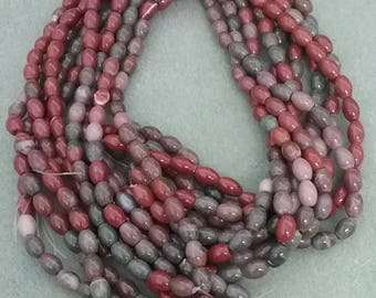 8 x 6 mm Fancey Jasper Mellon Beads
