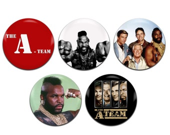 5x The A-Team Mr. T 25mm / 1 Inch D Pin Button Badges