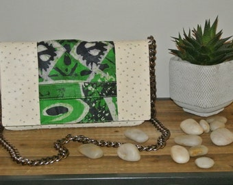 Bag/pouch Pu leather and Wax