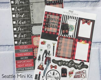 Marked DOWN! Pacific Northwest Planner Girl Classic Sticker Kit for use in ANY PLANNER~Erin Condren Life Planner