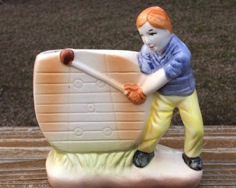 Golfer Planter by Nancy Pew Giftwares Co. Man Golfing