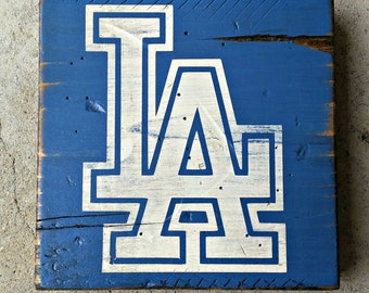 5 SIZES - Los Angeles Dodgers -  Distressed Wood Sign