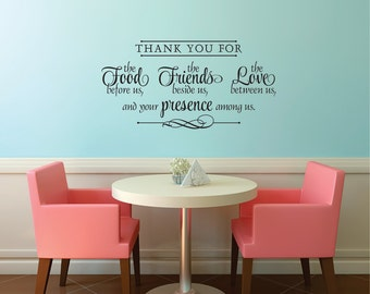Thank You For The Food Wall Decal