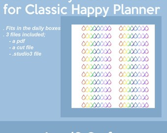 Rainbow Hydrate Printable Stickers for Classic MAMBI Happy Planner
