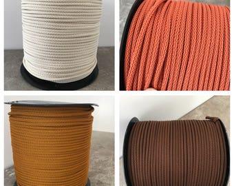 6mm textile cord, macrame cord, polyester rope, braided cord, chunky yarn, crocheting yarn, soft cord, macrame yarn, knitting yarn, 6mm cord