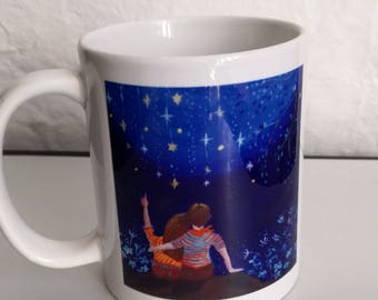 """Mug """"see falling stars - derived from my canvas"""
