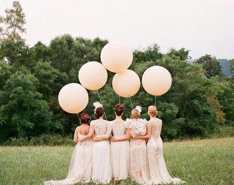 """Giant 36"""" Blush Balloon - 5 PACK Jumbo 36"""" Blush Wedding Balloons"""