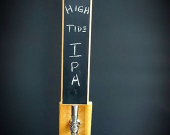 Chalkboard beer tap handle, made from solid red oak