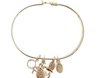 Rose Gold Crab Bracelet with Swarovski Crystal