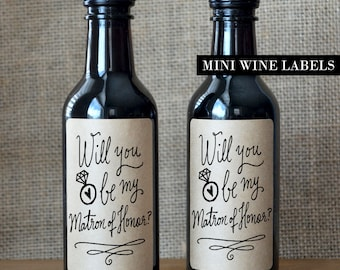 Matron of Honor Proposal Wine Label - Will you be my Matron of Honor Wine Label