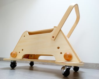 Carrier on wheels, Sun lounger - Wooden Toy