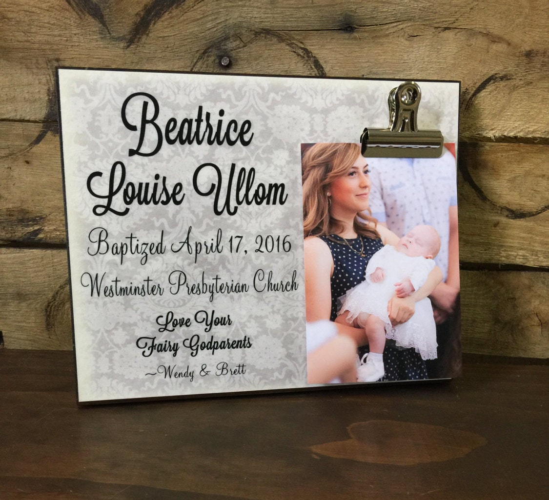 Gift for Baptism, Personalized Picture Frame, Baptism Gift ...