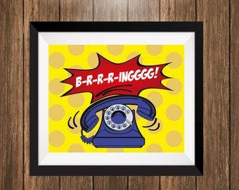 Comic Style Phone Art
