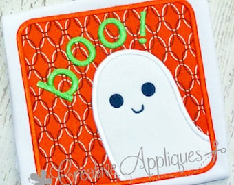 Ghost Halloween Digital Machine Embroidery Applique Design 4 Sizes, halloween ghost applique, ghost applique, halloween applique, embroidery