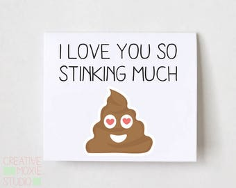 I Love You So Stinking Much - I Love You Card - Card for Husband - Card for BF -  Unisex Adult Love - Anniversary Card - Adult Anniversary