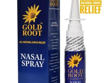 GOLD ROOT Nasal Spray - Natural Sinus Relief & Herbal Saline Solution